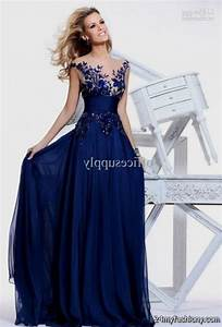navy blue wedding dresses with sleeves 2016 2017 b2b fashion With navy blue wedding dresses
