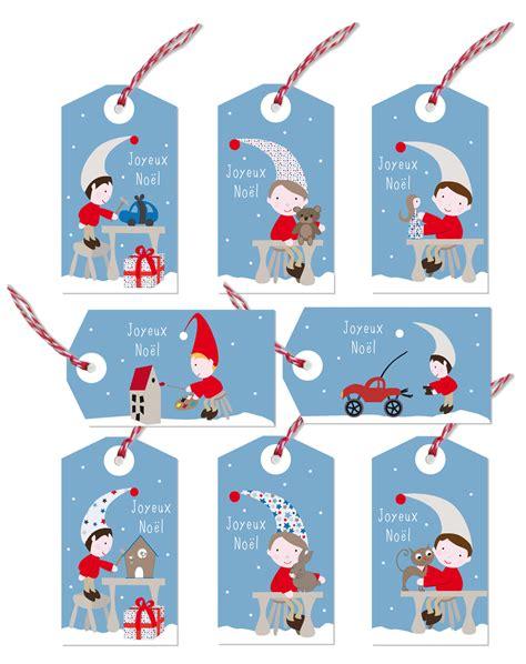 chambre bébé garçon gris kit de 8 étiquettes cadeaux lutins de noël exclusives