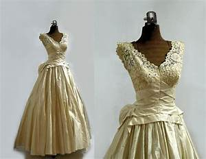 on reserve 1950s wedding dress designer antiqued silk With 1950s wedding dresses