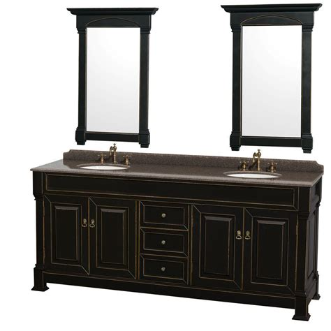 Wyndham Andover Bathroom Vanity by Wyndham Collection Andover 80 In W X 23 In D Vanity In