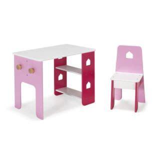 bureau et chaise pour bébé bureau et chaise roses pour enfant avec étagères et