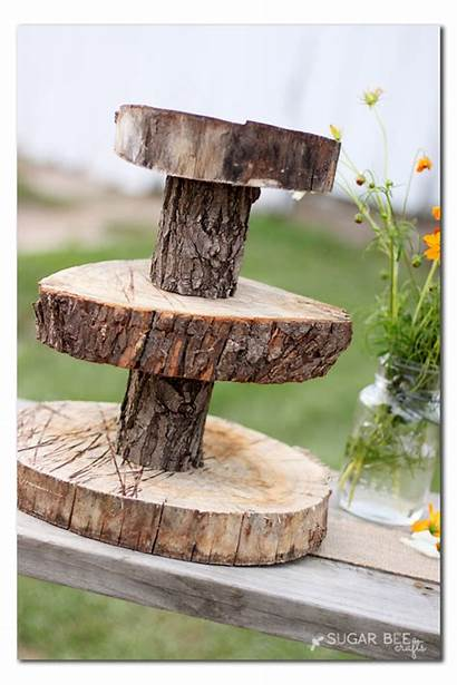 Cupcake Stand Rustic Wood Diy Decor Stands