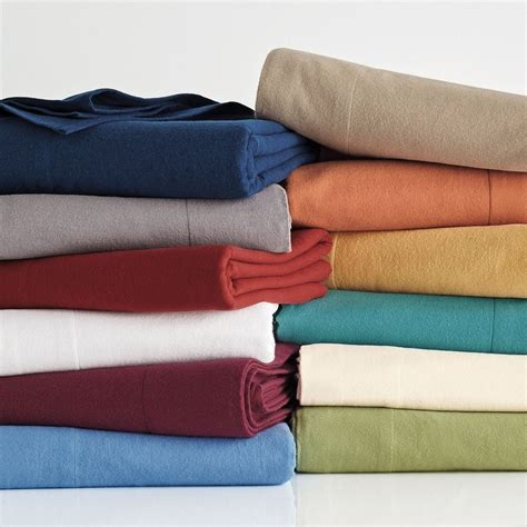 solid flannel flat sheet the company store