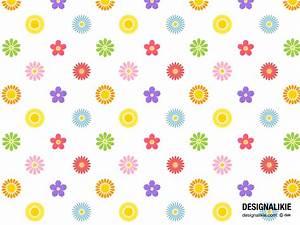 かわいい花マーク模様の壁紙|パソコンやスマホの無料壁紙画像集