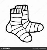 Socks Coloring Template Pages sketch template