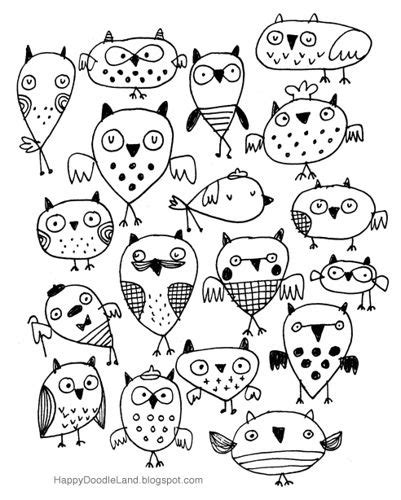 eulen selber malen bedtime owly sketch sketchbook pictures