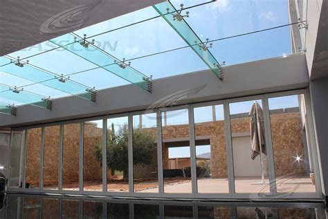 structural glass roof  glass fins glasscon gmbh