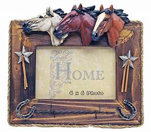 "4"" x 6"" Wooden Horse Picture Frame"