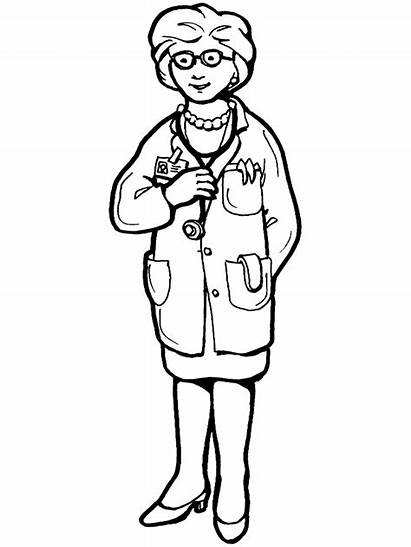 Coloring Pages Labor Doctors Jobs Hospital Doctor