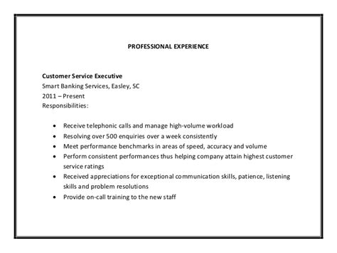 Brief Summary For Customer Service Resume by Customer Service Resume Sle