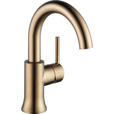 Delta Fixtures Bathroom by Delta Trinsic Chagne Bronze 1 Handle 4 In Centerset