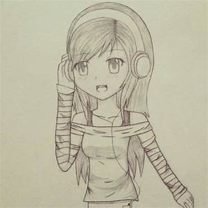 Chibi Girl with Headphones by FireGamer747 on DeviantArt