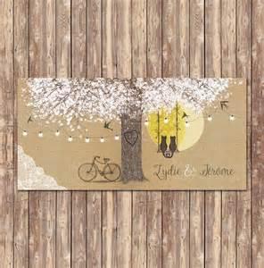 faire part mariage arbre personnalisation de faire part avec arbre guirlandes dentelles sur kraft
