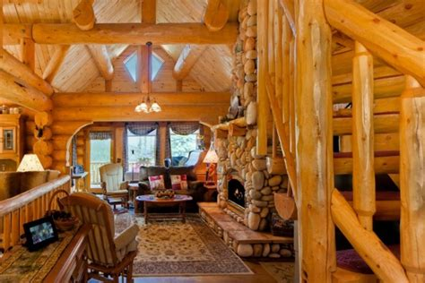 impressive interior design  wooden houses