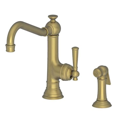 brass kitchen faucet newport brass 2470 5313 06 antique brass jacobean single