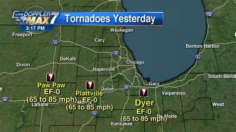 3 Ef 0 Tornadoes Touched Down In Chicago Area Monday Nws