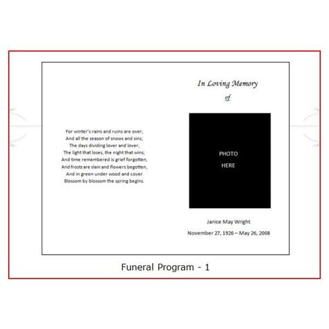 resources  find  funeral program templates