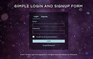 Simple Login And Signup Form A Flat Responsive Widget Template
