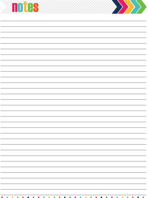 notes page 7 best images of printable notes page pdf printable daily notes page free printable planner