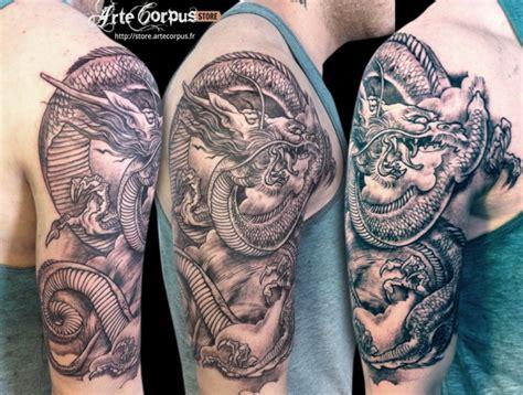 tatouage dragon japonais sur le bras inkage