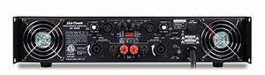 Dj Tech Ax 1000 2400 Watts Power Amp With Dual Speakon Output Connector
