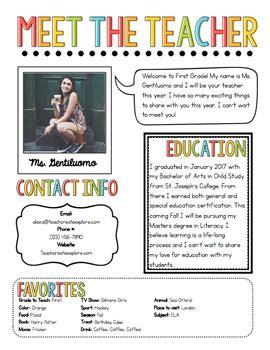 free meet the teacher meet the newsletter template by chalk and gumption tpt