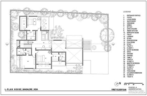 L Shaped Living Room Floor Plans by This L Shaped Home S Height Living Room Opens To