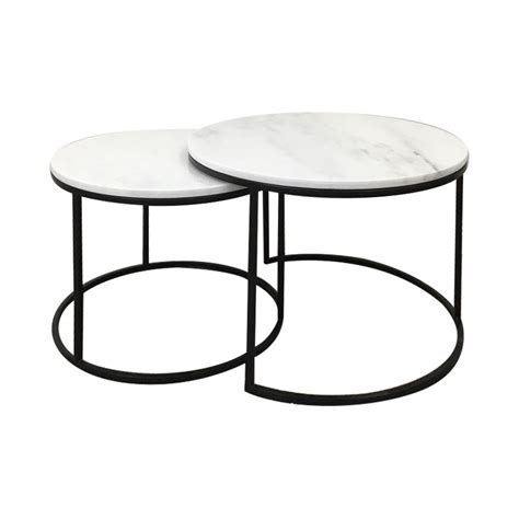 Shop the marble coffee tables collection on chairish, home of the best vintage and used furniture, decor and art. Miles 2 Piece Marble Top Metal Round Nesting Coffee Table ...
