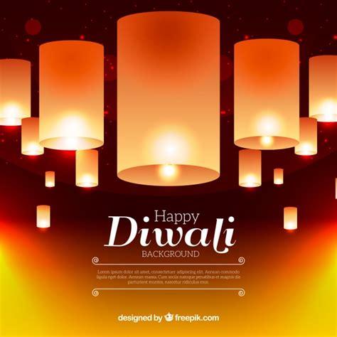 diwali lamps background vector