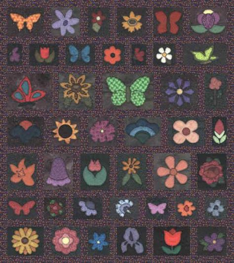 butterfly garden quilt as you go quilt pattern