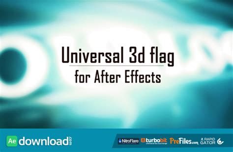 After Efects Universal Template by Universal 3d Flag Videohive Project Free Download Free