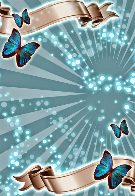 turquoise template turquoise invitation template with butterflies