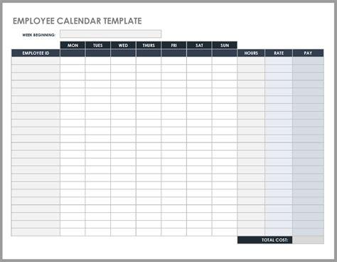 daily work schedule templates smartsheet