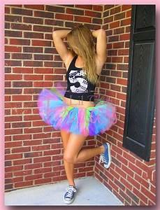 Katy - Neon Rave Purple Lime Pink u0026 Turquoise 80u0026#39;s Style Tutu - Birthday Tutu - Infant ...