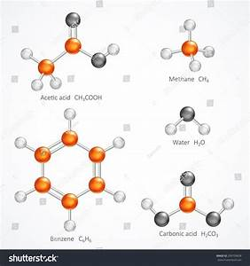 Illustration Of 3d Molecular Structure, Ball And Stick ...