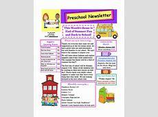 Preschool Newsletter Samples beneficialholdingsinfo