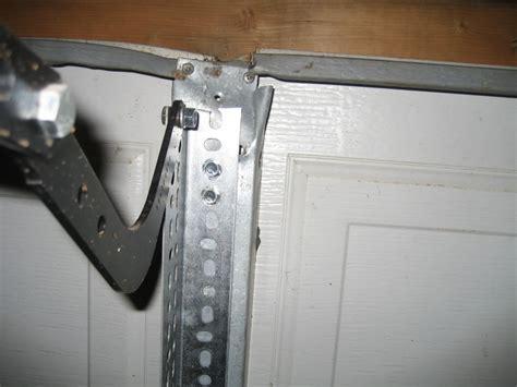 garage door operator bracket repair garage garage door reinforcement kit home garage ideas
