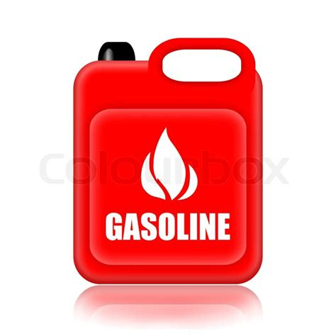 Gasoline Canister Isolated Over White Background Stock