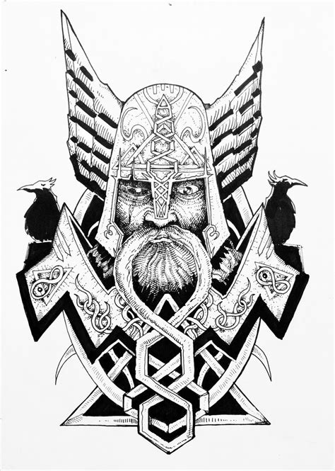 Entry #26 by GiancarloGArt for Create a Traditional Viking/Norse Tattoo Design | Freelancer