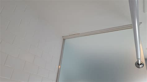 drywall water damage  ceiling  shower home