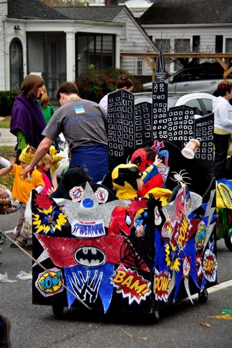 dwights comic book themed mardi gras float krewe