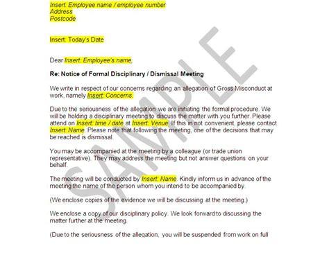 images  dismissal disciplinary letter template