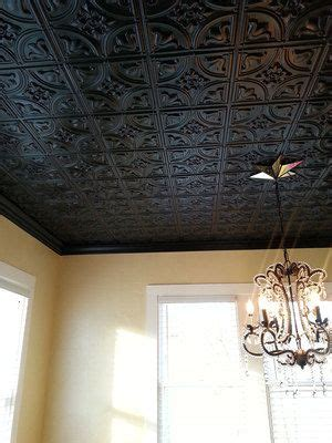 tiny tulips faux tin ceiling tile glue
