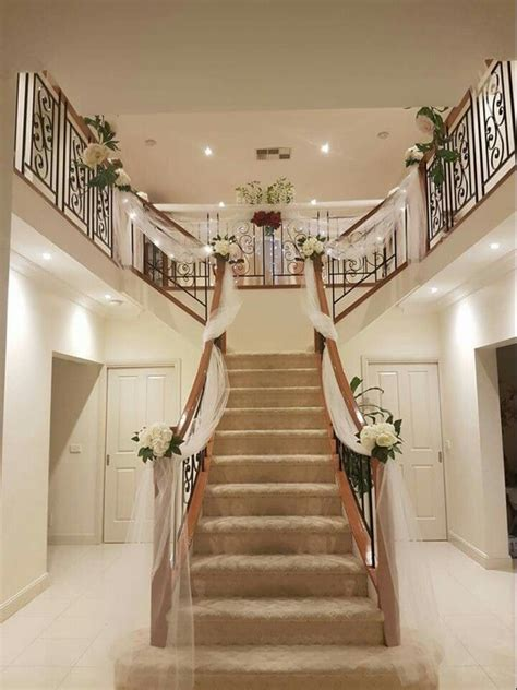 wedding preparation staircase decor stairs decor