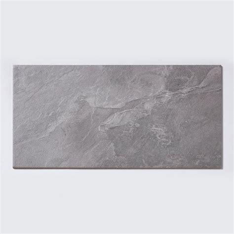 noir stone effect light grey 29 7cm x 59 8cm wall floor tile