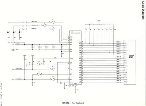 ps2 keyboard circuit diagram push button circuit diagram