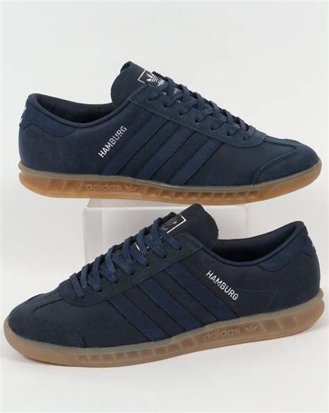 Adidas Hamburg adidas hamburg trainers blue navy mineral originals mens