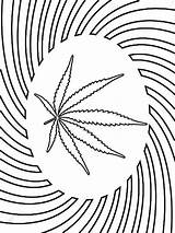 Coloring Weed Adult Smoke Printable Drawing Mandala Sheets Templates Tattoos Marijuana Stencil Books Template Colorful Cannabis Stoner Colouring Malvorlagen Heart sketch template