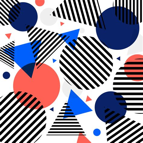 abstract modern fashion circles  triangles pattern