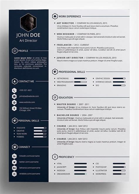 Creative Writer Cv Sle by 10 Best Free Resume Cv Templates In Ai Indesign Word